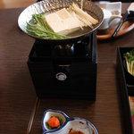御宿 仙壽 - 朝食の湯豆腐