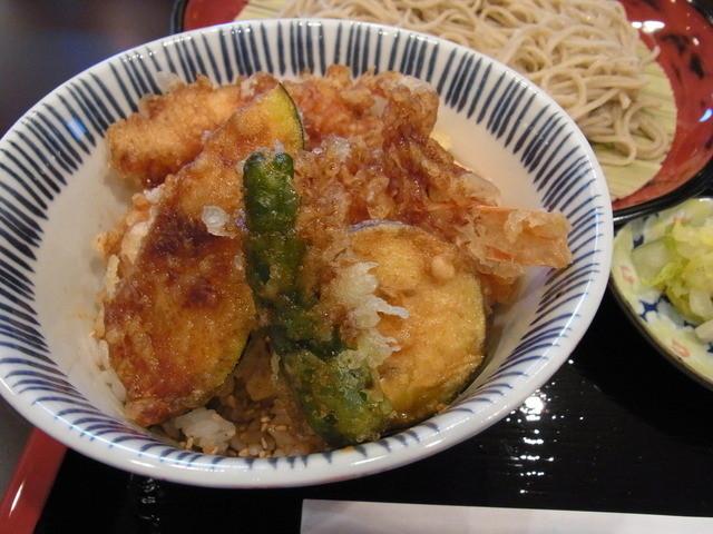 花よし - 天丼セット(1000円)のミニ天丼