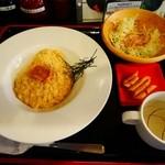 元祖北海道炭焼きイタリアン酒場 炭リッチ - 炙りうにのクリームリゾット¥800