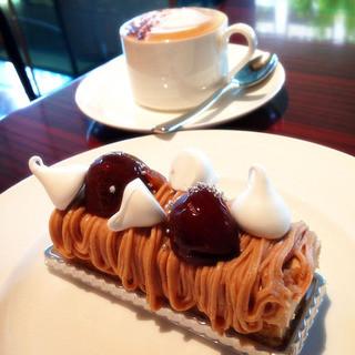 ストレス - デザートのモンブラン