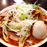 手打ち麺処 暁天 - ネギ辛味噌ラーメン