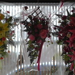 みはらし - 入口付近の花飾り