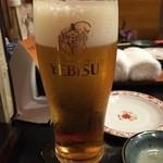 串の坊 - 串の坊 エビス生ビール
