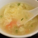 中国料理 晴華 - 玉子スープ