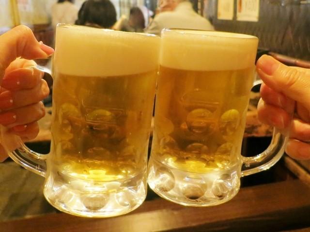 柳ばし焼鳥家 - 乾杯~♪