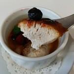 わかば食堂 - 14.11.12【Szechwan restaurant 陳:石原シェフ】ジャスミン茶ブリュレ 表面はザクザクです♪