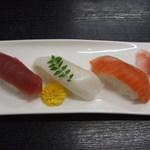 やよい鮨 - 料理写真:パスタランチ内すし3貫