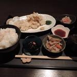 輝 - ランチの鶏天定食