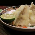う越貞 - 鱚は淡路の釣りものです。鱚というとタンパクな印象ですが、深い味わいがあります。       うまいっ。