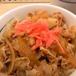 松屋 - 豚丼(紅ショウガ)