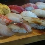 緑鮨 - 上にぎり13カン 1000円