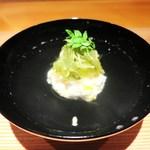 日本料理 幸庵 - 蟹真丈、とうもろこし、枝豆、海そうめん