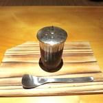 日本料理 幸庵 - 黒蜜の寒天、メープルシロップ