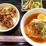 登正門 - 2014.11再訪 冷麺+カルビ丼(700円)