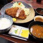 矢田かつ - 2014.11再訪:六白黒豚ロース定食☆