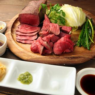 自慢のお肉料理【厳選黒毛和牛塊肉】