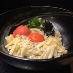 柔製麺 - 明太チーズ釜玉(温) 830円