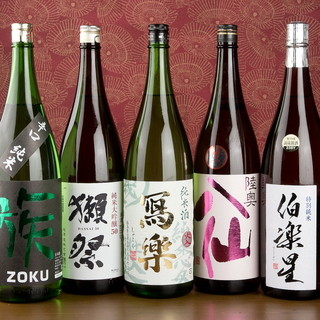 日本酒常時20~30種ご用意♪