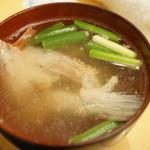 北辰鮨 - あら汁(98円)