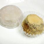 京菓子司 おくやま菓舗 - ぶどう大福(1個230円)、京わらび餅(1個195円)