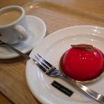 カカオサンパカ カフェ - カフェオレとともに