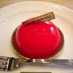 カカオサンパカ カフェ - ホワイトチョコと苺のムース
