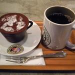 ホノルルコーヒー - コーヒーカップティラミスとコナブレンド