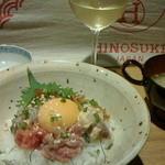 32790647 - これは美味しい魚匠・幸せ卵飯&店長チョイスの白ワイン