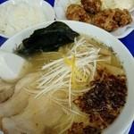 来来亭 - カラアゲ定食(塩ラーメン)