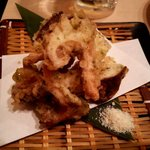 大漁旗 - なば(椎茸)の天ぷら