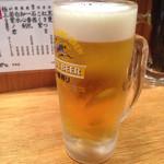 串かつ でんがな - 生ビール(ハッピーアワーで半額)