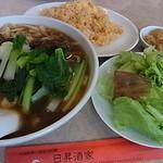 32799792 - ジャージャー刀削麺+半焼飯680円(今週のランチ)2014年11月9日日昇酒家