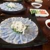 大八寿司 - 料理写真:温泉トラフグの「てっさ」