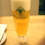 人形町ピザバル - 生ビール(ハートランド、350mL、550円)