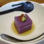 日本料理 戸たに - むらさき芋豆腐とんぶり美味し