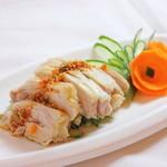 楓林閣 - 蒸し鶏580円(日本産枝もも使用)