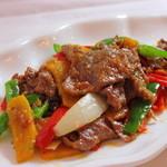 楓林閣 - 牛肉のオイスターソース炒め980円