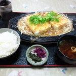 3281230 - スタミナ豆腐ステーキ定食