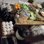 ニコリ キッチン - ミニビュッフェバー