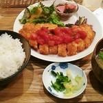 32811531 - オリザ風ロース豚カツ定食880円♪