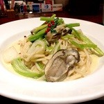 32814435 - ランチ 牡蠣とカブのクリームパスタ