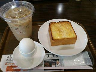 上島珈琲店 NEOPASA駿河湾沼津下り店 - 2014年11月、モーニングのDセットをいただきました。