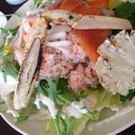 32815167 - 炙りズワイガニのサラダ海鮮丼