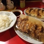 錦ちゃん餃子 - ライス、いか餃子、えび餃子