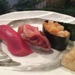 みなと寿司 - 赤身、赤貝ひも、小柱