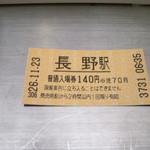 信州蕎麦処 しなの - 駐車料代わり(?)の入場料140円
