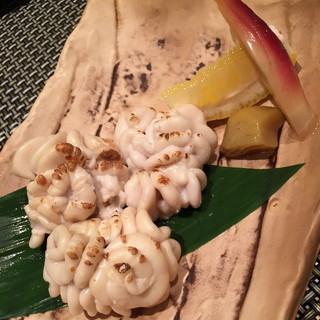 竹若 広尾店 - 焼き白子。2014年11月