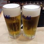 Mutenkurazushi - 生ビール(中) ¥500(税込)×2