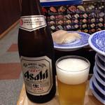 Mutenkurazushi - 瓶ビール¥(中瓶) ¥500(外税)