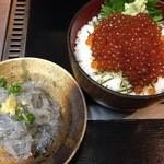 ふみ野 - いくら丼+生しらす